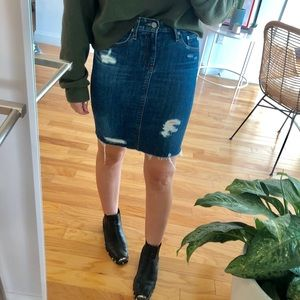 "Ag ""the Erin"" denim pencil skirt"